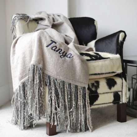 Personalised Long Tassel Luxury Blanket